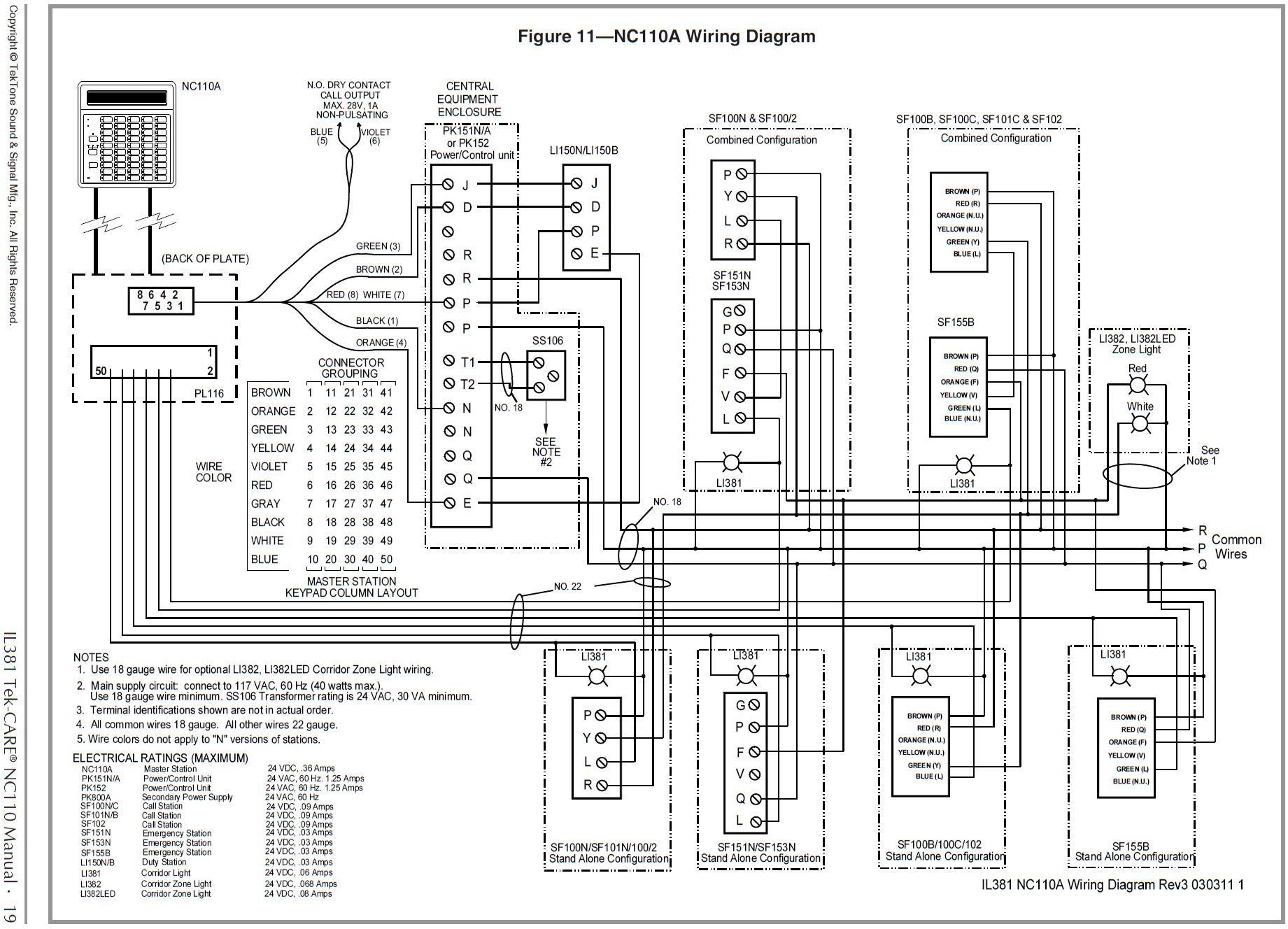 Pk152 Tektone Power And Control Unit Wiring Diagram For Shop